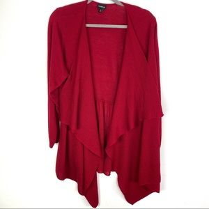 Torrid Red Drape Open Front Knit Cardigan Size 4X